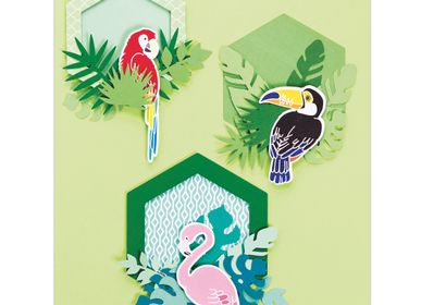 Creative Hobbies - Creative Kit - Wall decoration - Tropical animals - FRENCH KITS