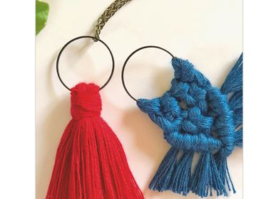 Creative Hobbies - DIY Creative Kit - Pendants - Bows & pompom - FRENCH KITS