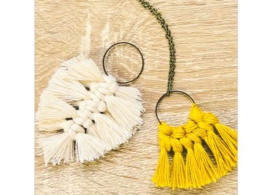 Jewelry - DIY Creative Kit - Pendants - Feather & Bows - FRENCH KITS