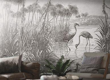Papiers peints - Papier peint paysage grisaille Swami - LA MAISON MURAEM