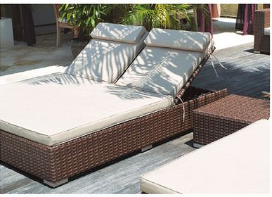 Lits - Lit de soleil double inclinable Lounge - SUNSO