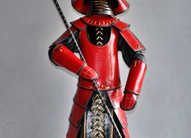 Sculptures, statuettes and miniatures - Large Samurai Leather Sculpture - ANNIE DELEMARLE