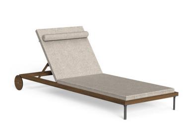 Deck chairs - CLEO//TEAK SUNBED - TONICIE'S