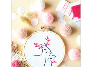 Decorative objects - Decorative Embroidery Kit - Deers - FRENCH KITS