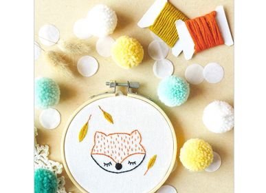 Decorative objects - Decorative Embroidery Kit - Fox - FRENCH KITS