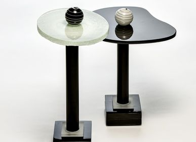 Unique pieces - Fables B&W  glass coffee tabels - BARANSKA DESIGN