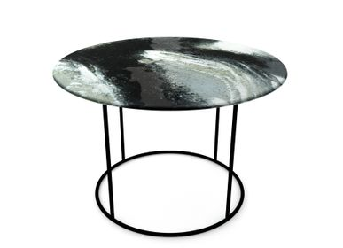 Objets design - Tables basses en verre Moon Shadow - BARANSKA DESIGN