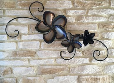 "Other wall decoration - Wall decoration ""Fleur Bleue"" metal, wrought iron - BRICE RIVIÈRE CRÉATION"