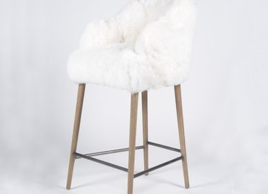 Chairs - YETI bar chair with short fur - JOE SAYEGH PARIS