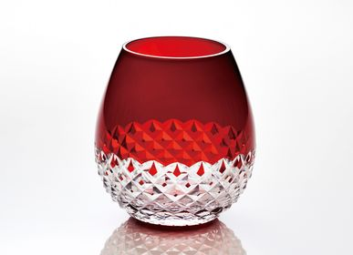 Wine accessories - karai Edo kiriko arare  -red- - HIROTA GLASS MFG. CO., LTD.