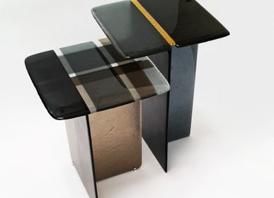 Design objects - So Coffee  art glass  side tables - BARANSKA DESIGN