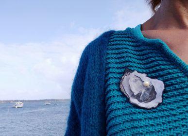 "Jewelry - ""La Simone"" oyster brooch - L'ATELIER DES CREATEURS"