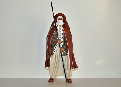 Sculptures, statuettes and miniatures - Leather sculpture, Touareg standing - ANNIE DELEMARLE