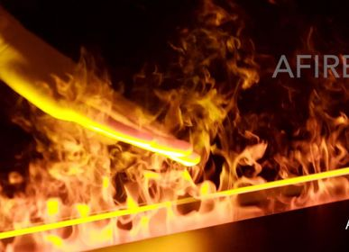 Objets de décoration - 100 cm Cheminée à vapeur d'eau - Insert électrique 3D PRESTIGE AFIRE Cheminées  Décoration Design - AFIRE