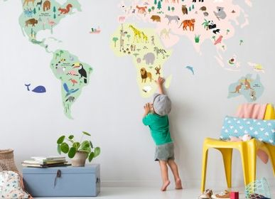 Other wall decoration - Children's room GIANT WOLRDMAP - MIMI'LOU