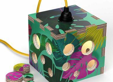 Lampes de table - Lampe abat-jour cube Lampotai - RIPPOTAI
