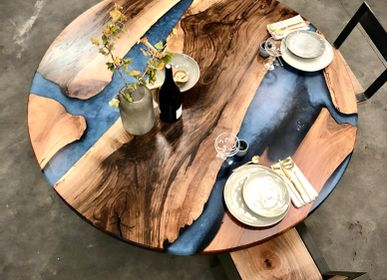 Dining Tables - RIVER ROUND TABLE JIMMY ARTWOOD - JIMMY ARTWOOD