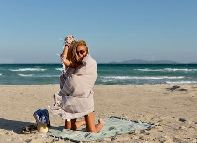 Other bath linens - Hammam Towel Sand in organic cotton GOTS certified - LESTOFF FRANCE