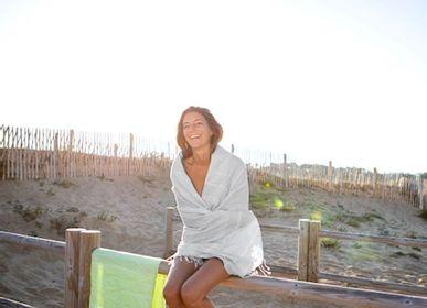 Autres linges de bain - Fouta Grey en coton biologique certifié GOTS - LESTOFF FRANCE