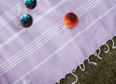 Other bath linens - Hammam Towel Lilac in organic cotton GOTS certified - LESTOFF FRANCE