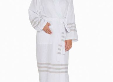 Homewear - BATHROBE KIMONO WHITE-SULTAN COTTON UNISEX  - LALAY