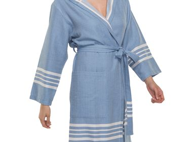 Bath towels - BATHROBE HOODED SULTAN UNISEX COTTON - LALAY
