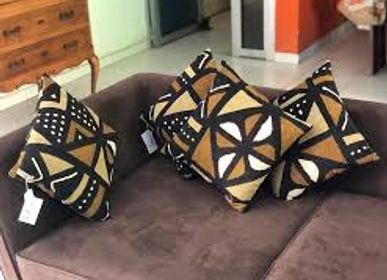 Fabric cushions - Decorative bogolan cushions or bogolan decorative cushion covers or bogolan cushions or cushions (15 available immediately) - SUBLIME JUJU HAT