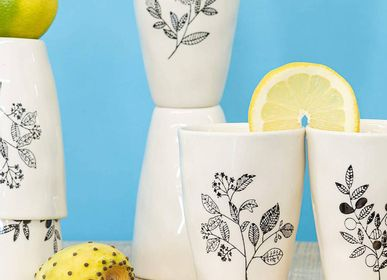 Tasses et mugs - Tasse florale simple - TRANQUILLO