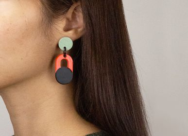 Jewelry - Natural horn and lacquer earrings - L'INDOCHINEUR PARIS HANOI