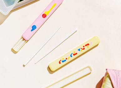 Cutlery set - CHOPSTICKS with CASE in POOL, POKETO x TAKENAKA Limited Edition - TAKENAKA BENTO BOX