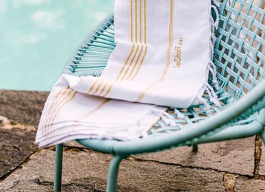 Other bath linens - Hammam Towel White Gold in organic cotton GOTS certified - LESTOFF FRANCE