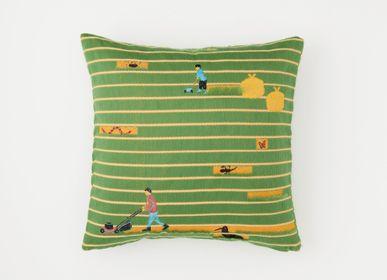Fabric cushions - SNIP SNAP | cushion cover  - YURI HIMURO