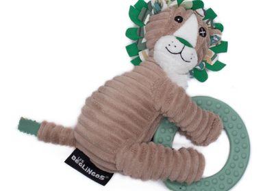 Accessoires pour puériculture - PELUCHE JELEKROS LE LION ET SON ANNEAU DE DENTITION - LES DEGLINGOS