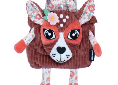 Bags and backpacks - SMALL CORDUROY BACKPACK MELIMELOS THE DEER - LES DEGLINGOS