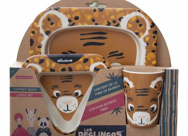 Children's mealtime - BAMBOO FIBER LUNCH SET SPECULOS THE TIGER - LES DEGLINGOS