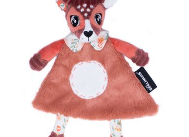 Soft toy - BABY COMFORTER MELIMELOS THE DEER - LES DEGLINGOS