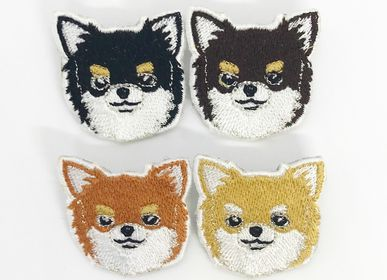 Apparel - Chihuahua  Face Embroidered Brooches - KEORA KEORA GOODS JP