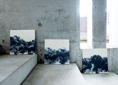 Autres décorations murales - FLOW Panneaux d'art Washi faits main - AWAGAMI