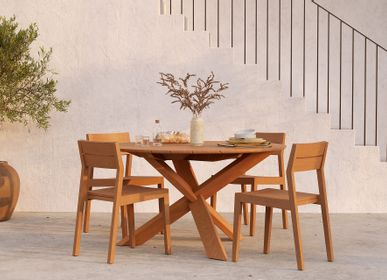 Lawn chairs - Teak EX 1 Outdoor dining chair - ETHNICRAFT