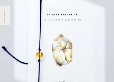 Bijoux - Bracelet Homme Citrine Naturelle - GIVE ME HAPPINESS