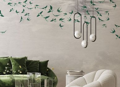 Other wall decoration - Wallpanel Swallow Cloud Vert - PAPERMINT