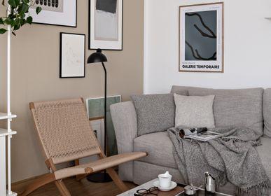 Fabric cushions - HAND KNITTED BABY ALPACA & COTTON CUSHION 40x60cm - MY ALPACA