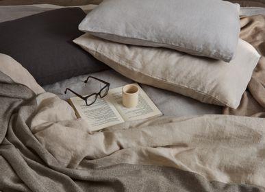 Throw blankets - HANDWOVEN BABY ALPACA & COTTON THROW  - MY ALPACA