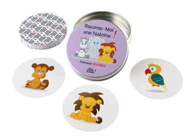 "Children's games - Tell me a story ""Wild animals"", washable and tear-proof card games - J'VAIS L'DIRE À MA MÈRE !"