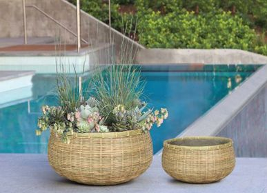 Pottery - CANXE Bamboo - Round Shape with Short Body Planter - NEXX DECOR LTD