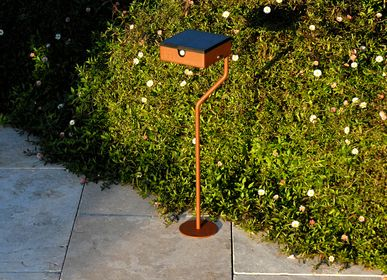 Outdoor floor lamps - Solar pathway light TEE Round Base - LYX LUMINAIRES