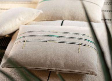 Fabric cushions - Cushion Sema White Amazonite - MILLE ET CLAIRE