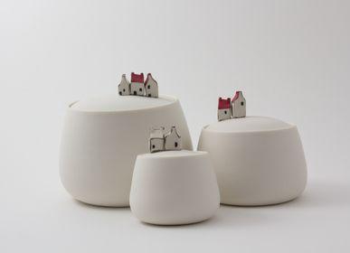 Objets de décoration - Petite boite en porcelaine avec maisons mini - BÉRANGÈRE CÉRAMIQUES