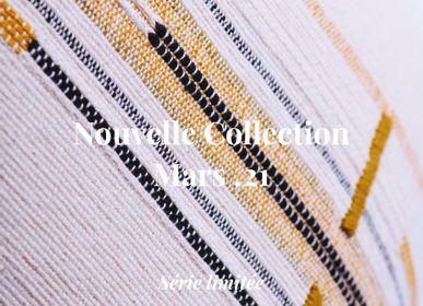 Fabric cushions - CUSHION SEMA NETTLE CHESTNUT LINE - MILLE ET CLAIRE