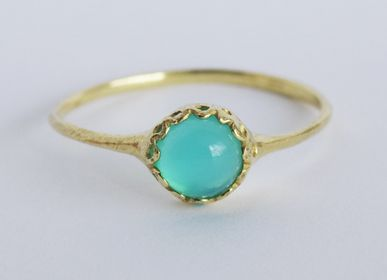Jewelry - Sea Blue chalcedony Ring - NAM